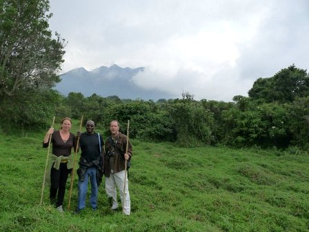 With Robert in Mgahinga National Park